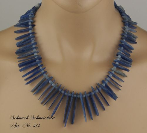 EDLES KYANIT-ANGELITE-COLLIER